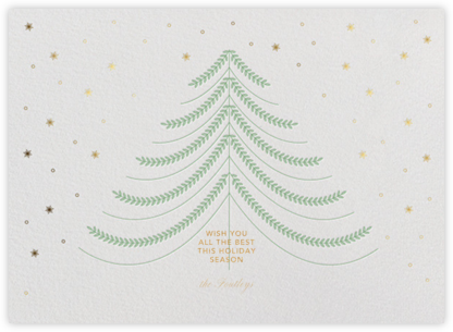 Jolly Tree - White - Paperless Post - Holiday cards