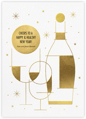 Champagne Dazzle - Paperless Post - New Year Cards