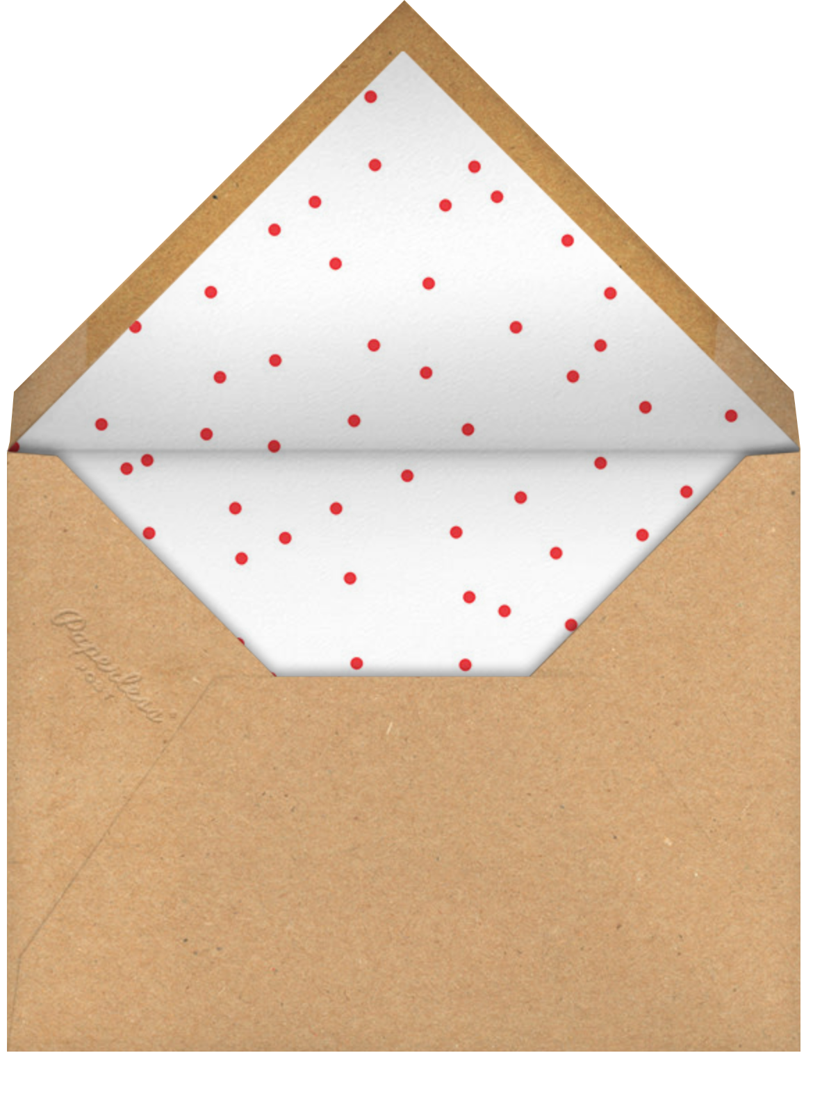 Reindeer Topper - Paperless Post - Christmas party - envelope back
