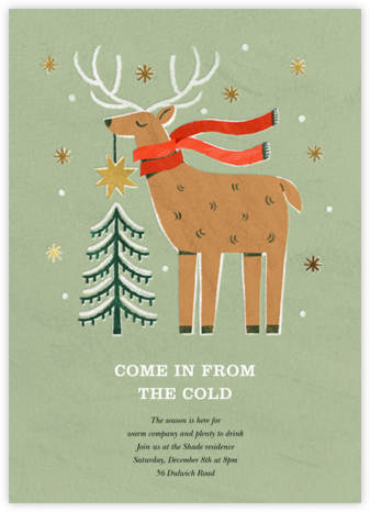 Reindeer Topper - Paperless Post - Holiday party invitations