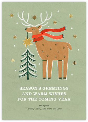 Reindeer Topper - Paperless Post - Holiday cards