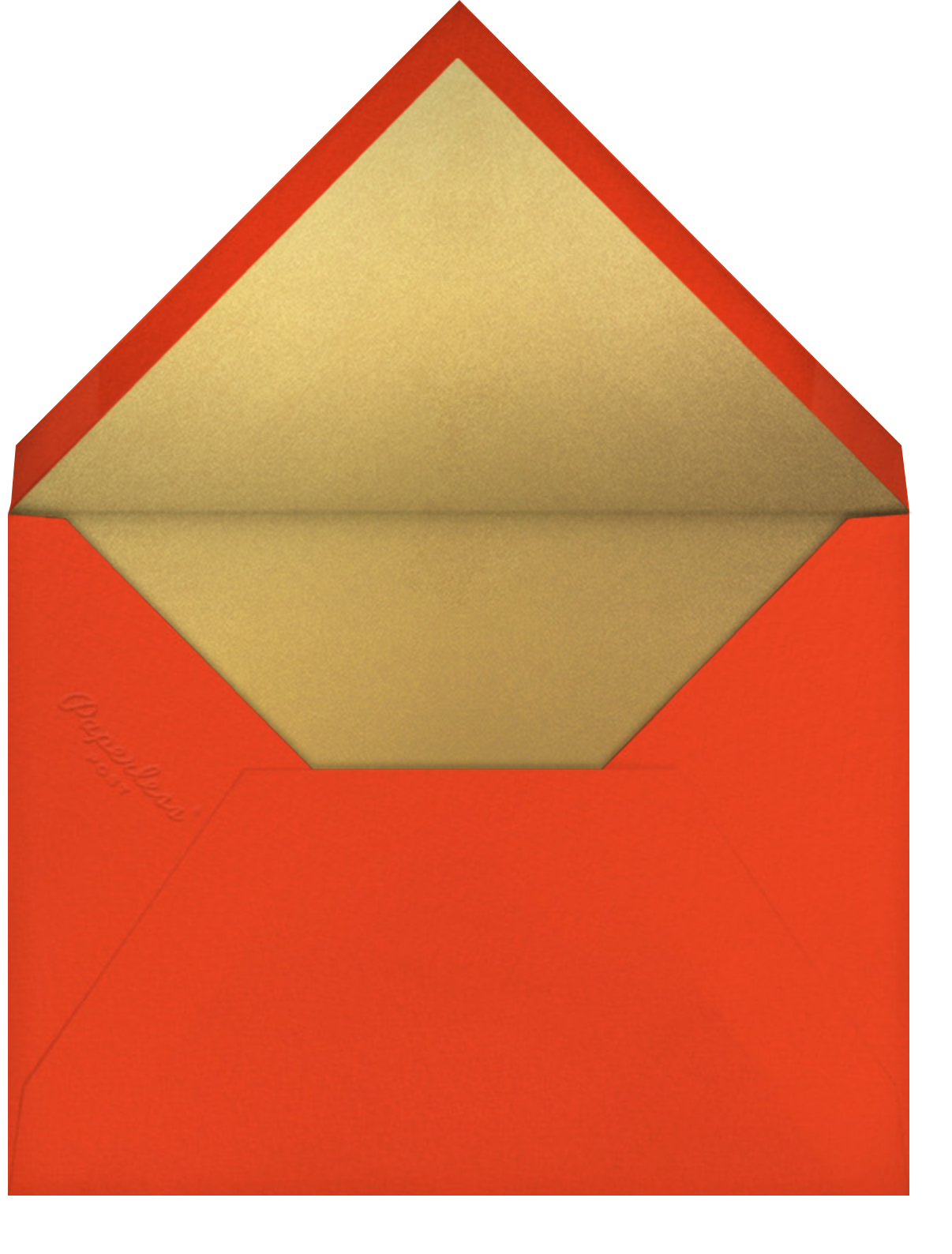 Bells and Ribbons - Paperless Post - Holiday cards - envelope back