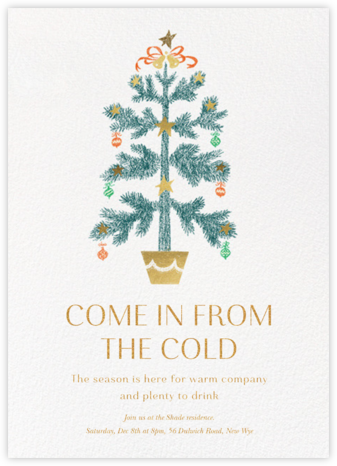 Bells and Ribbons - Paperless Post - Christmas invitations