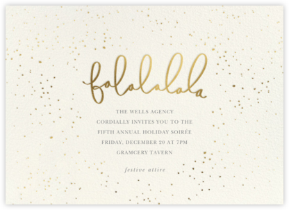 Falalalala - Sugar Paper - Company holiday party