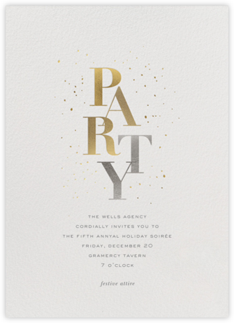Party Sparkle - Sugar Paper - Professional party invitations and cards