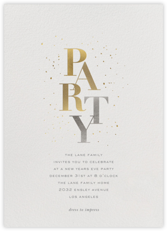 Party Sparkle - Sugar Paper - New Year's Eve Invitations