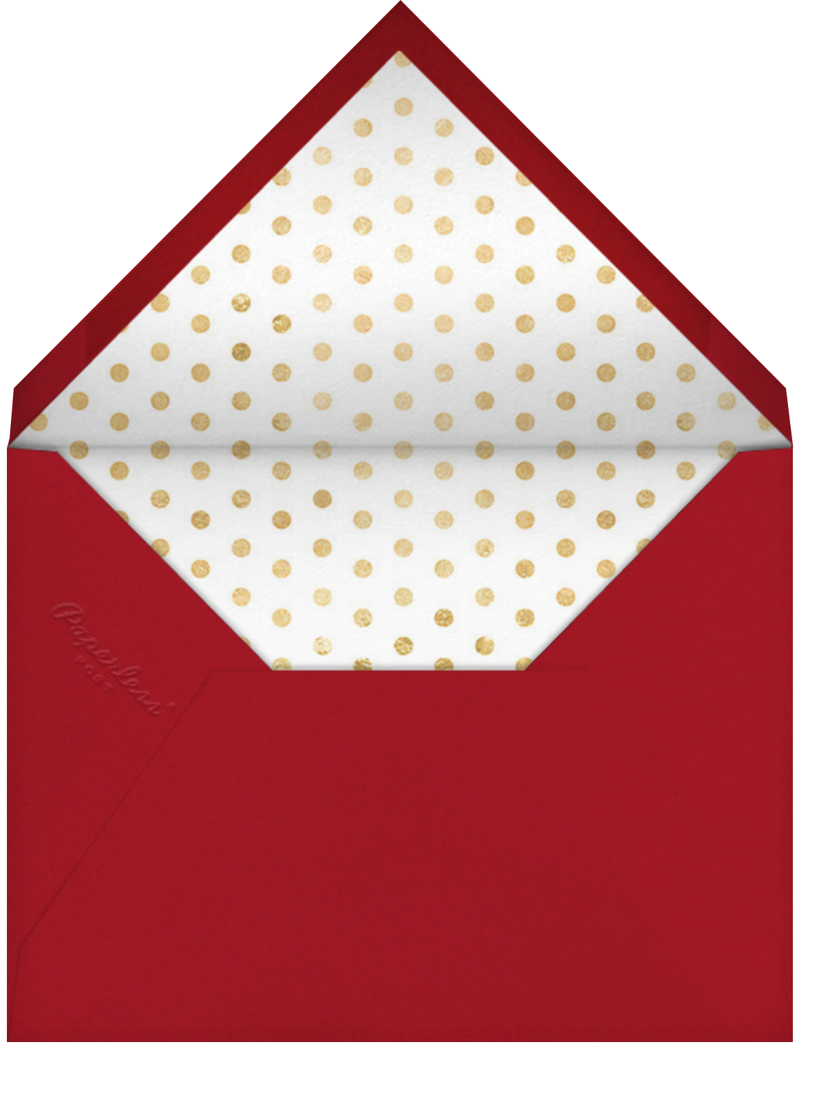 Snow Worries - Sugar Paper - Christmas party - envelope back