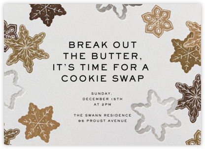 Cookie Cutters - Paperless Post - Cookie Swap Invitations