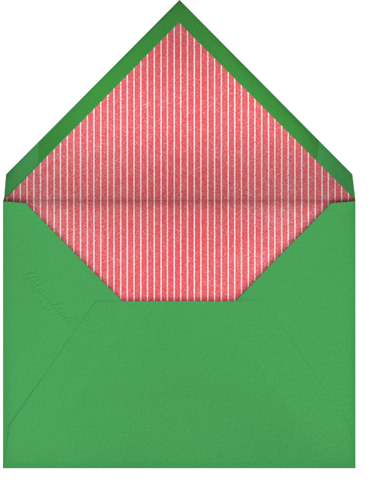 Raise the Roof - Paperless Post - Christmas party - envelope back