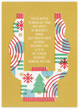 Raise the Roof - Paperless Post - Holiday invitations
