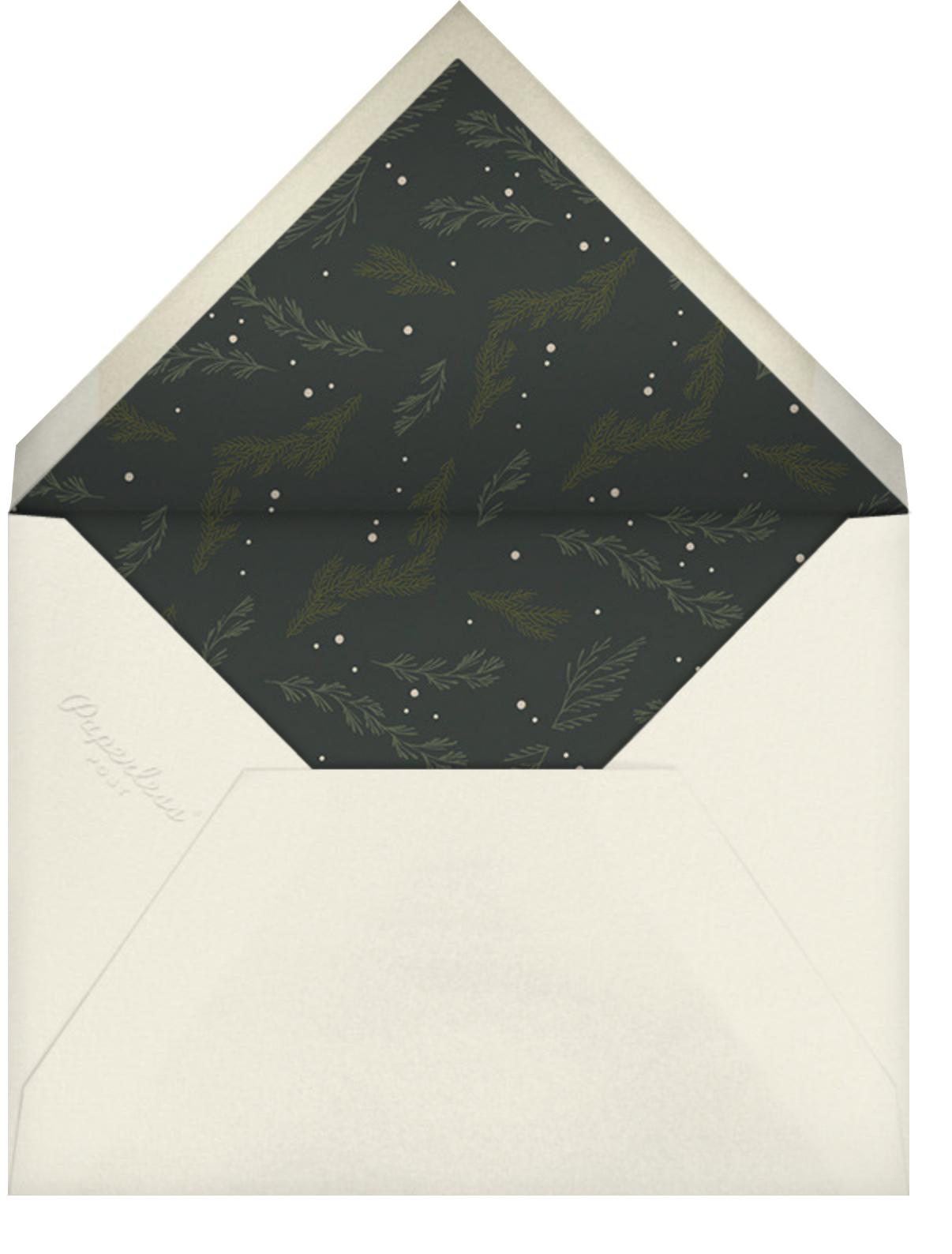 Greenery Frame - Cream - Paperless Post - Christmas party - envelope back