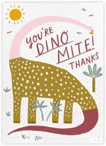 Dinos Might (Greeting) - Pink - Hello!Lucky -