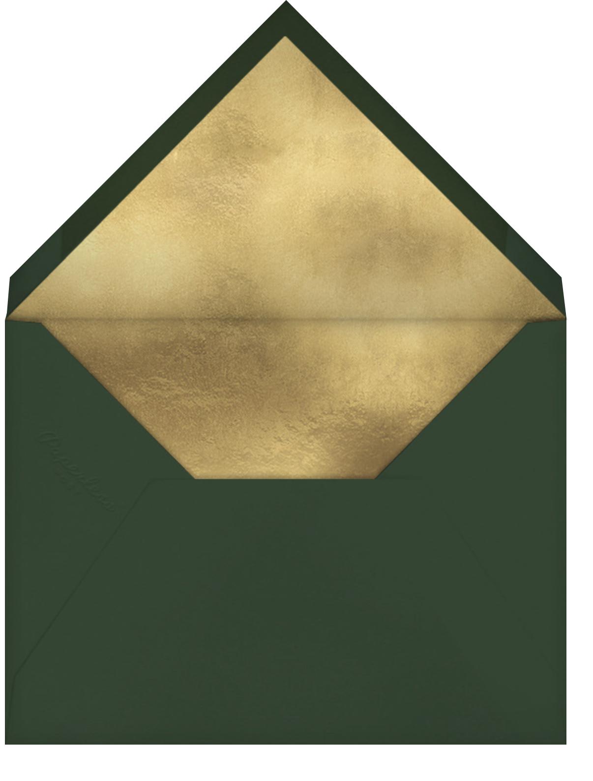 Greenery Frame - Greenwood - Paperless Post - Holiday cards - envelope back