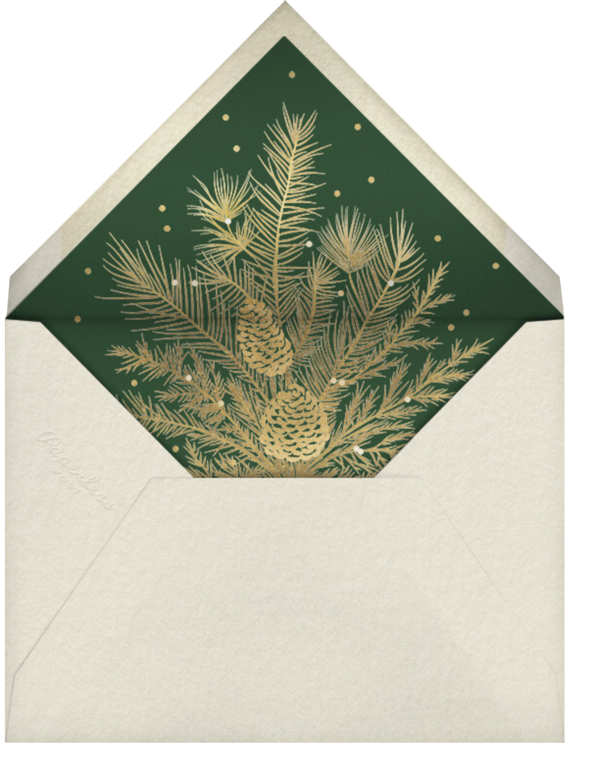 Greenery Frame - Greenwood - Paperless Post - Christmas party - envelope back