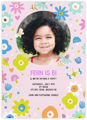Star Flowers - Hello!Lucky - Online Kids' Birthday Invitations