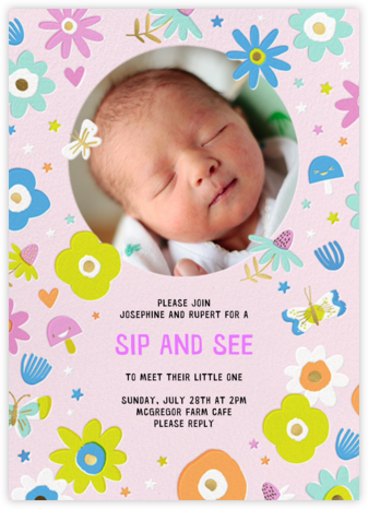 Star Flowers - Hello!Lucky - Baby Shower Invitations