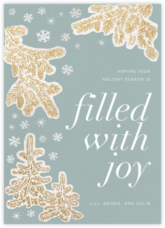 Snow-capped - Paperless Post - Holiday cards
