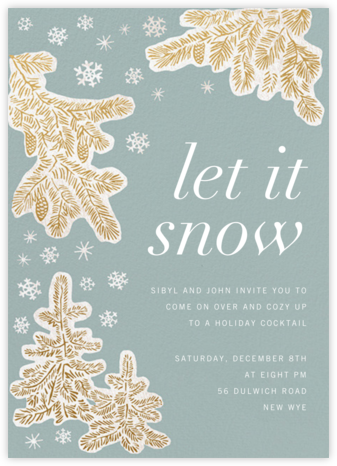 Snow-capped  - Paperless Post - Winter Party Invitations
