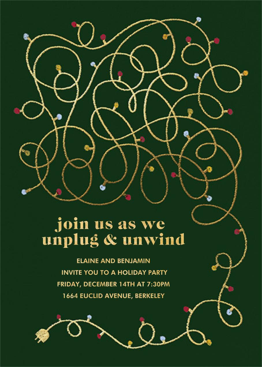 Unplug - Hunter Green - Paperless Post - Parties