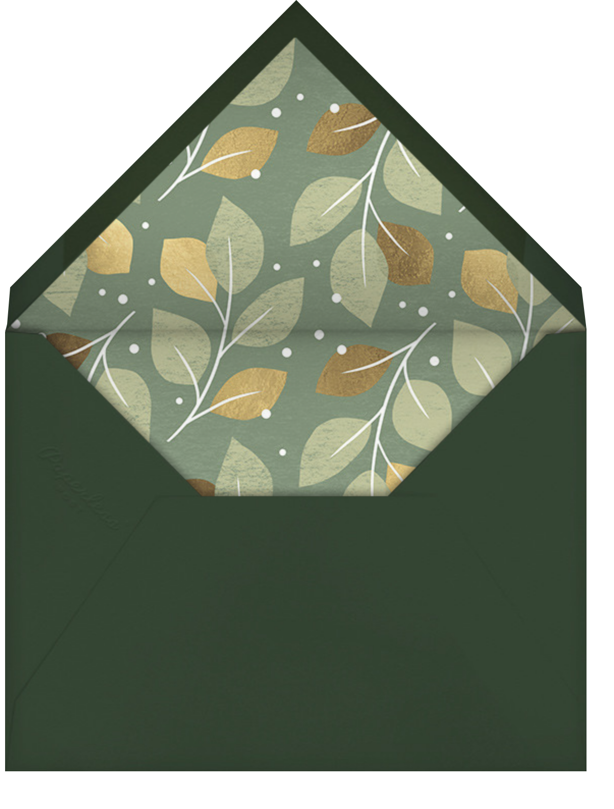 Gathered Leaves - Palm - Paperless Post - Thanksgiving - envelope back