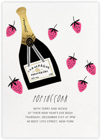 Pink Berries - Hello!Lucky - New Year's Eve Invitations