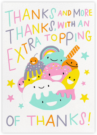 Thanks on Top - Hello!Lucky - Online Thank You Cards