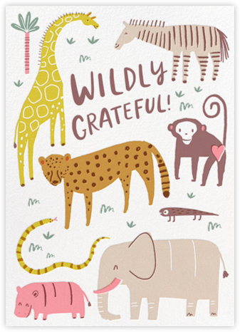 Thank Zoo - Hello!Lucky - Online Thank You Cards