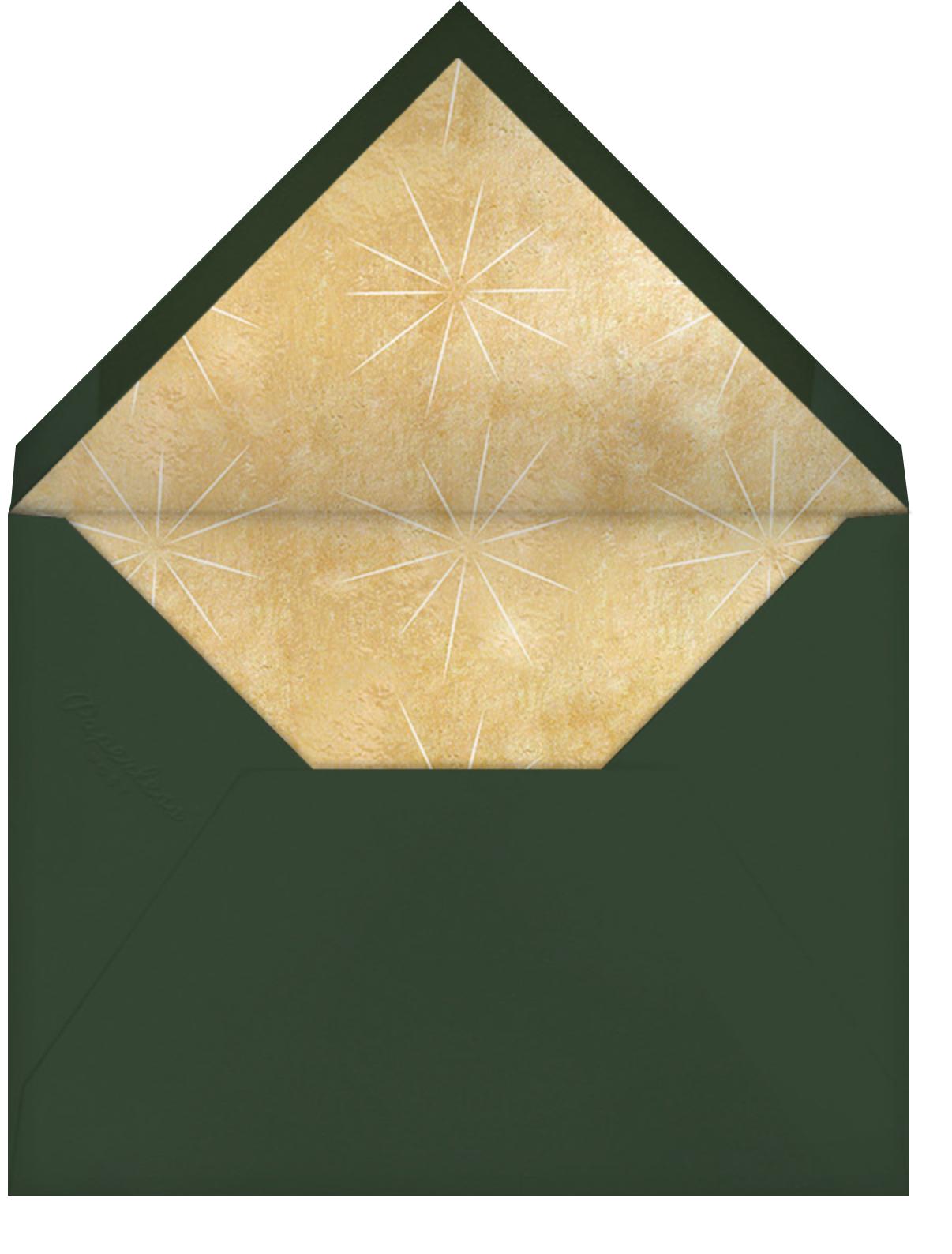 Pressed Oak - Green Gold - Paperless Post - Envelope