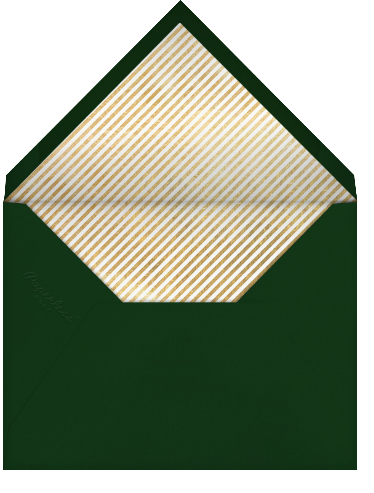 Golden Glass - Paperless Post - Company holiday party - envelope back