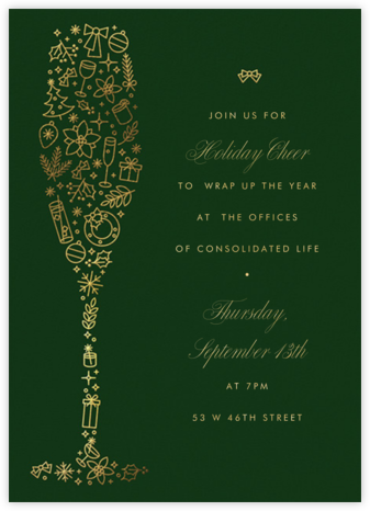 Golden Glass - Paperless Post - Holiday party invitations