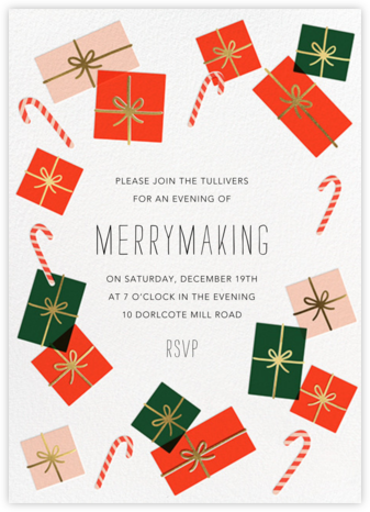 Freestyle Wrapping - Hello!Lucky - Holiday party invitations
