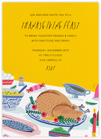 Turky Feast - Hello!Lucky - Thanksgiving invitations