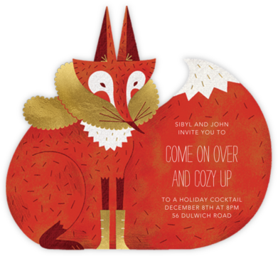 Cozy Fox - Paperless Post - Winter Party Invitations