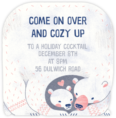 Bear Hug - Paperless Post - Winter Party Invitations