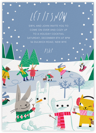 Snow Critters - Hello!Lucky - Winter entertaining invitations
