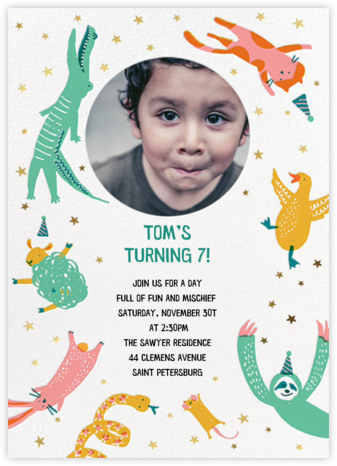 Jump In - Hello!Lucky - Birthday invitations