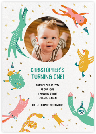 Jump In - Hello!Lucky - First Birthday Invitations
