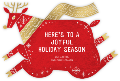 Prancer - Paperless Post - Holiday cards