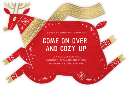Prancer - Paperless Post - Holiday party invitations