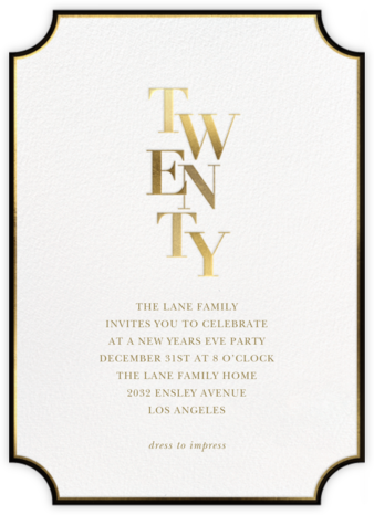 Royal New Year - Sugar Paper - New Year's Eve Invitations