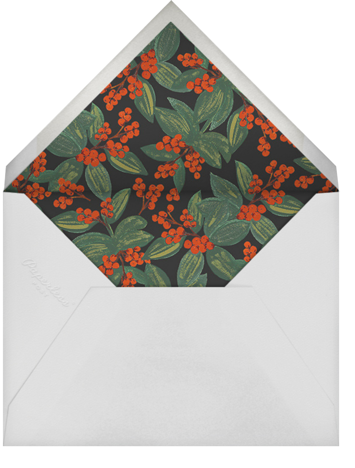 Winterberries Present - Rifle Paper Co. - Holiday cards - envelope back