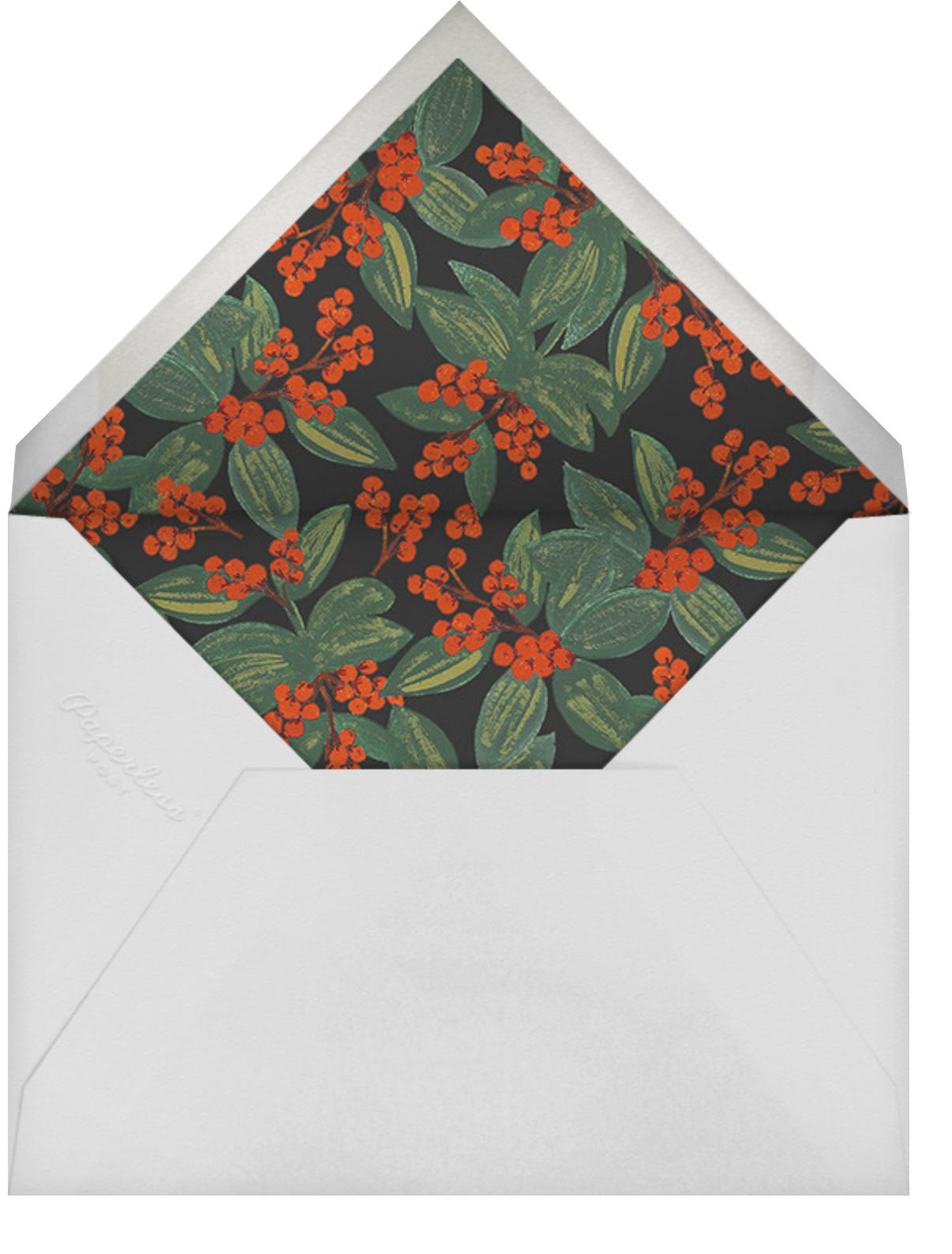Winterberries Present - Rifle Paper Co. - Christmas - envelope back
