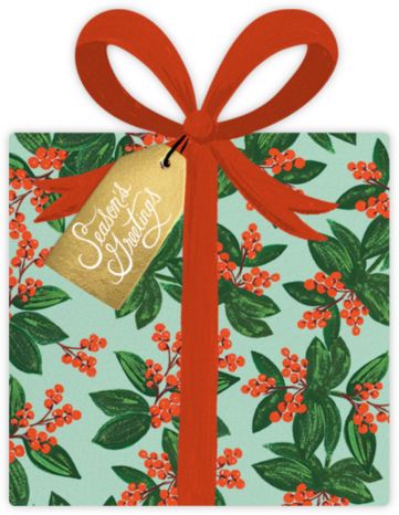 Winterberries Present - Rifle Paper Co. - Online greeting cards
