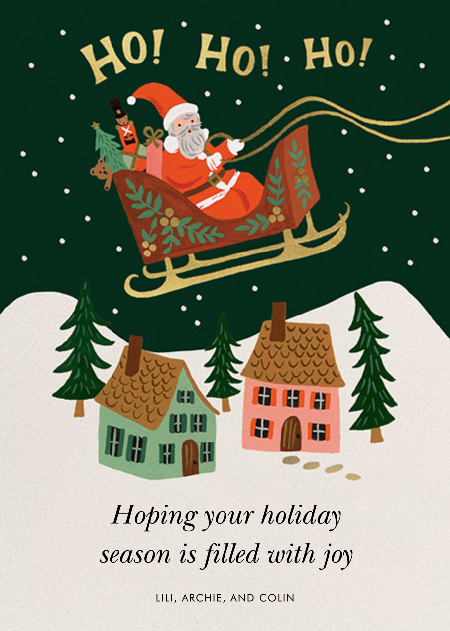 Christmas Delivery - Rifle Paper Co. - Holiday cards