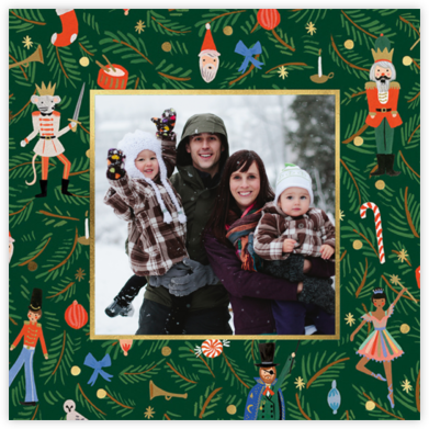 Nutcracker Christmas Tree - Rifle Paper Co. - Holiday photo cards