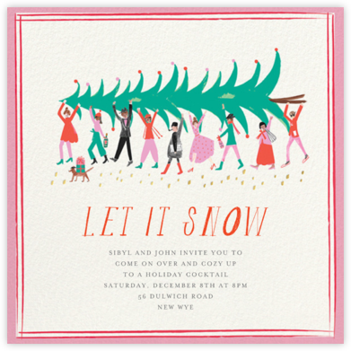 Helping Hands - Mr. Boddington's Studio - Holiday invitations