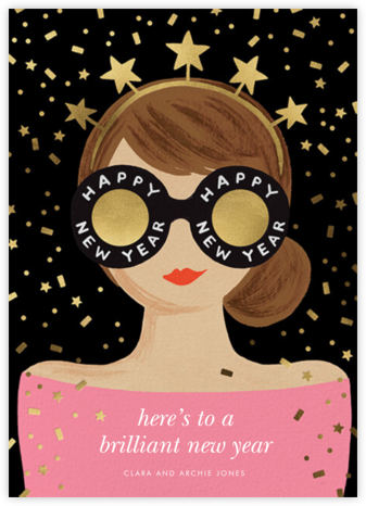 New Year Girl - Pink/Light - Rifle Paper Co. -