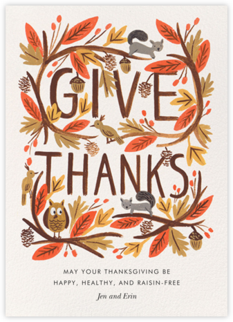 Give Thanks Foliage - Rifle Paper Co. - Thanksgiving Cards
