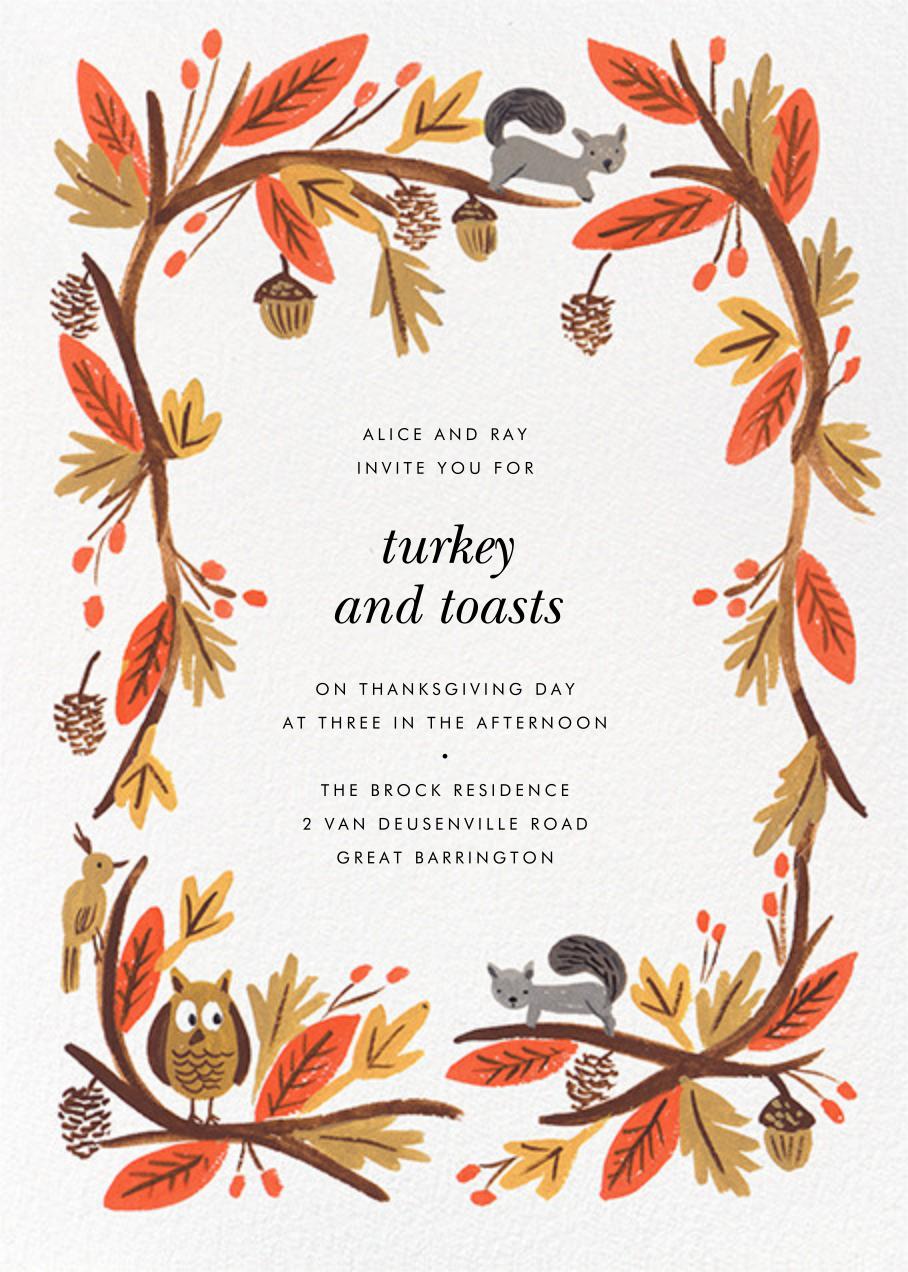 Fall Foliage - Rifle Paper Co. - Thanksgiving invitations