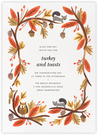 Fall Foliage - Rifle Paper Co. - Thanksgiving invitations